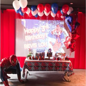 Helium Balloons with Spiderman Balloons