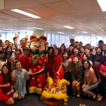 best lion dance troupe in Singapore with led lion dance