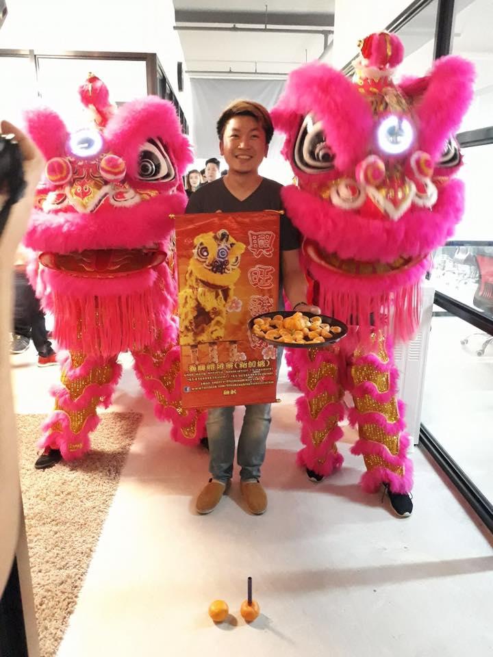lion dance singapore pink1